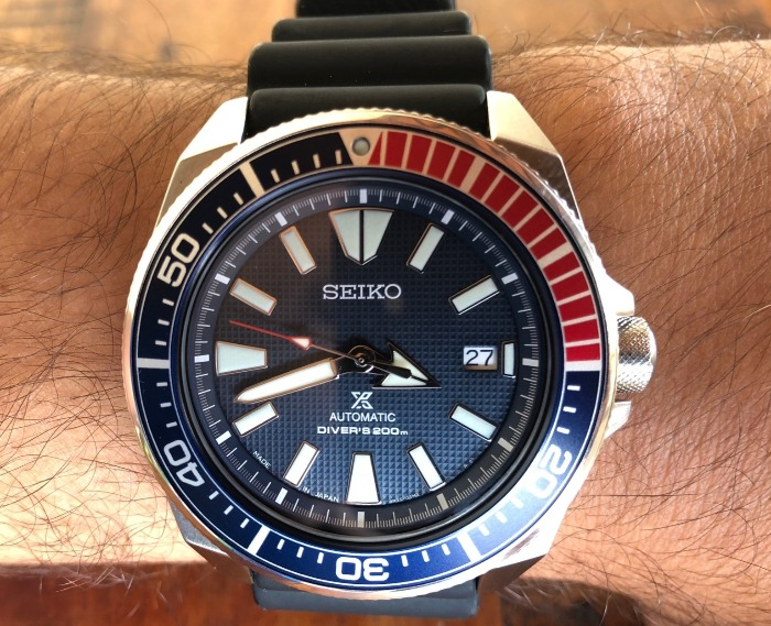 """8431d19e976 A série de relógios Seiko apelidada de """"Samurai"""" apareceu pela primeira vez  em 2004 como uma edição limitada e foi descontinuada por volta de 2008."""