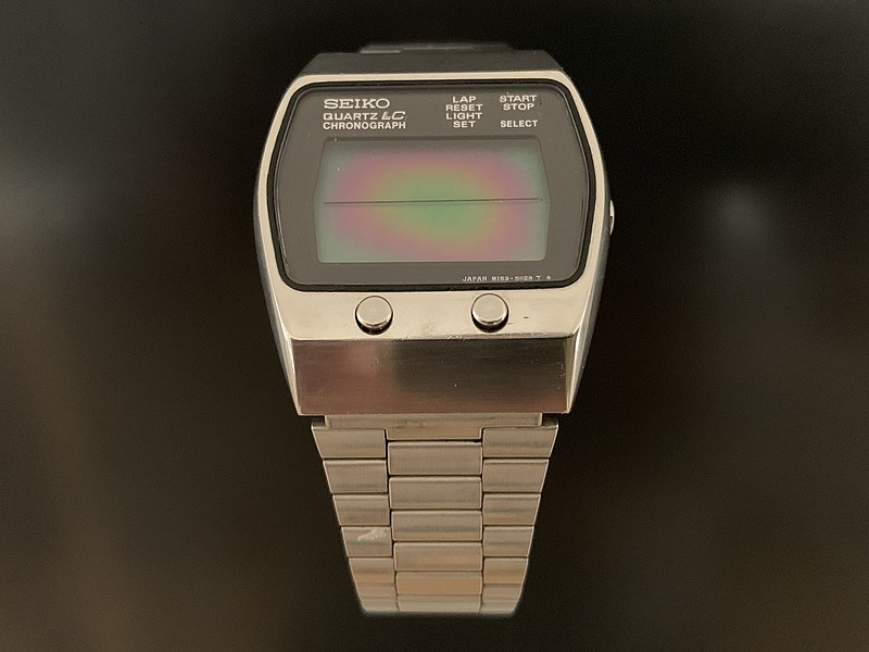 Steve_Jobs_Seiko_1977_Chronograph_Vintage_LCD_M159-5028_Stainless_Steel