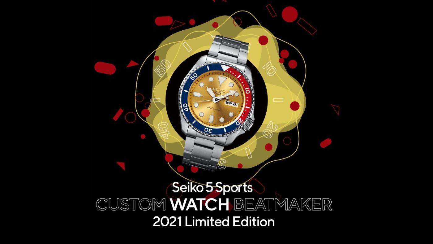 Seiko 5 Sports CUSTOM WATCH BEATMAKER 2021 Limited Edition SRPH19_2_seikophd